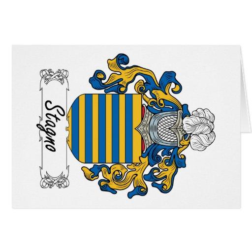Escudo de la familia de Stagno Felicitacion