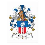 Escudo de la familia de Stahl Postal