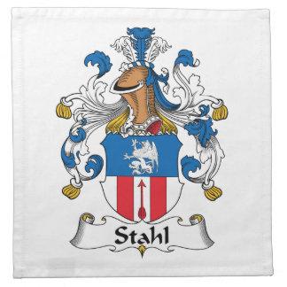 Escudo de la familia de Stahl Servilleta Imprimida