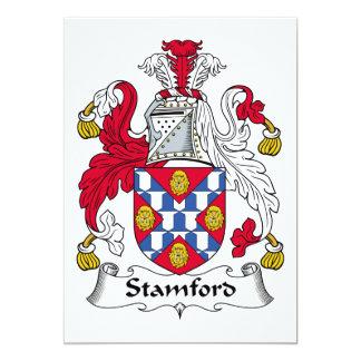 """Escudo de la familia de Stamford Invitación 5"""" X 7"""""""