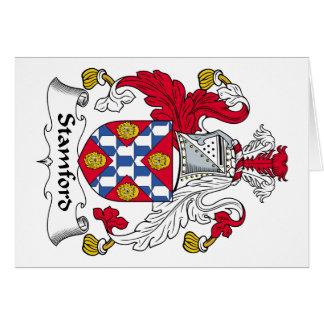 Escudo de la familia de Stamford Tarjeta De Felicitación