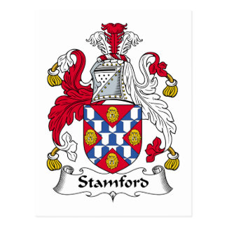 Escudo de la familia de Stamford Tarjeta Postal