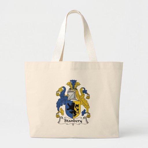 Escudo de la familia de Stanbery Bolsa Tela Grande