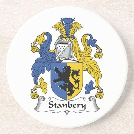 Escudo de la familia de Stanbery Posavaso Para Bebida