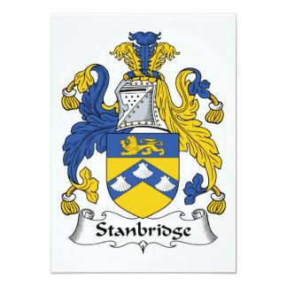 """Escudo de la familia de Stanbridge Invitación 5"""" X 7"""""""