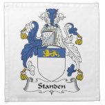 Escudo de la familia de Standen Servilletas
