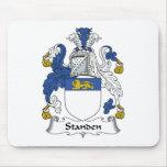Escudo de la familia de Standen Alfombrillas De Ratones
