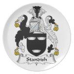 Escudo de la familia de Standish Plato