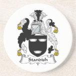 Escudo de la familia de Standish Posavasos Manualidades