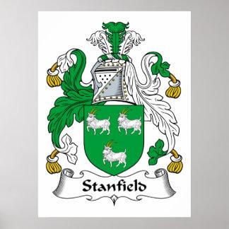 Escudo de la familia de Stanfield Póster