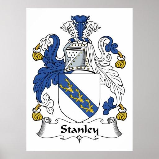 Escudo de la familia de Stanley Póster