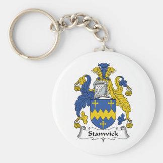 Escudo de la familia de Stanwick Llaveros Personalizados