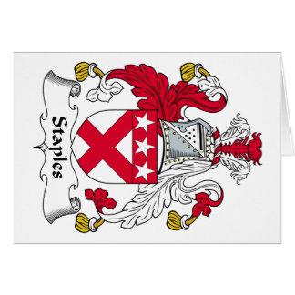 Escudo de la familia de Staples Tarjeta De Felicitación