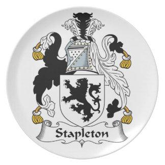 Escudo de la familia de Stapleton Plato De Comida