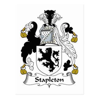 Escudo de la familia de Stapleton Postal