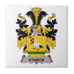 Escudo de la familia de Starck Azulejo
