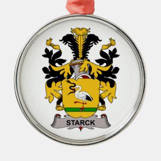 Escudo de la familia de Starck Adorno Redondo Plateado