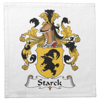 Escudo de la familia de Starck Servilletas Imprimidas