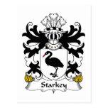 Escudo de la familia de Starkey Tarjetas Postales