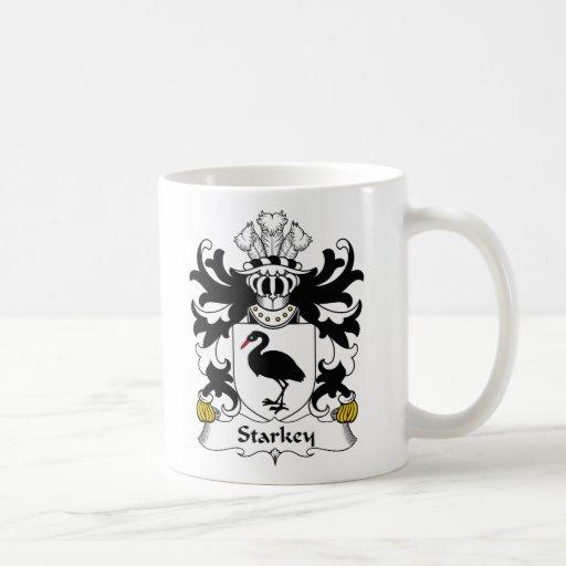 Escudo de la familia de Starkey Tazas De Café