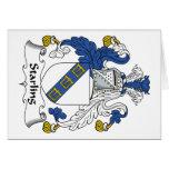 Escudo de la familia de Starling Tarjetas