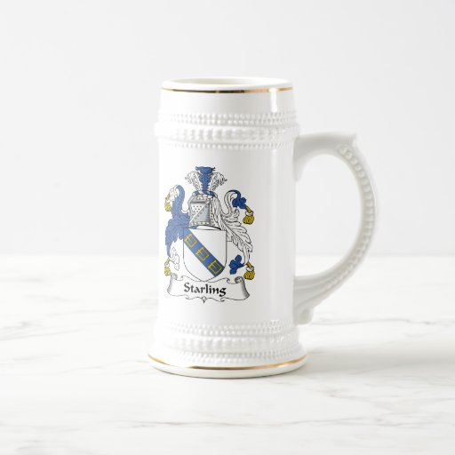 Escudo de la familia de Starling Taza De Café