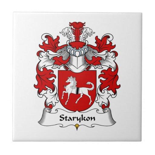 Escudo de la familia de Starykon Azulejo Cuadrado Pequeño