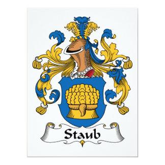 Escudo de la familia de Staub Invitación 16,5 X 22,2 Cm