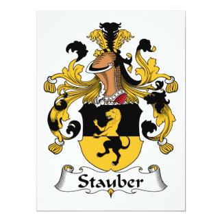 Escudo de la familia de Stauber Invitación 16,5 X 22,2 Cm