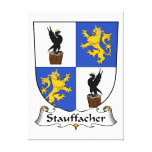 Escudo de la familia de Stauffacher Lona Envuelta Para Galerías