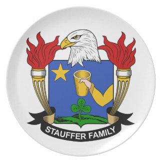 Escudo de la familia de Stauffer Platos
