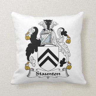 Escudo de la familia de Staunton Almohadas