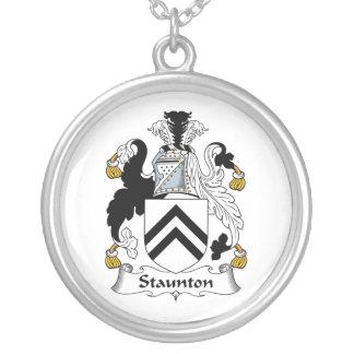 Escudo de la familia de Staunton Pendientes Personalizados