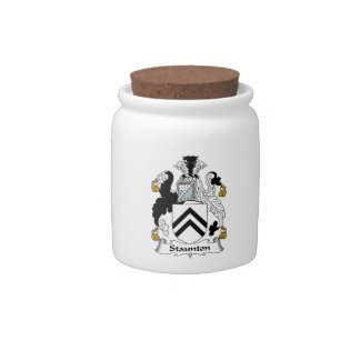 Escudo de la familia de Staunton Jarra Para Caramelo