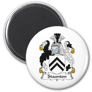 Escudo de la familia de Staunton Imán Redondo 5 Cm