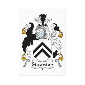 Escudo de la familia de Staunton Impresión En Lona