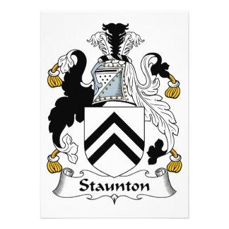 Escudo de la familia de Staunton Invitación Personalizada