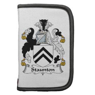 Escudo de la familia de Staunton Organizador