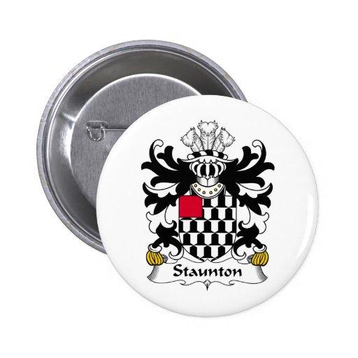 Escudo de la familia de Staunton Pin Redondo 5 Cm