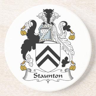 Escudo de la familia de Staunton Posavasos Manualidades