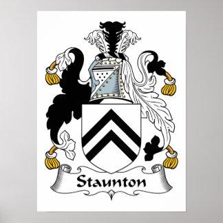 Escudo de la familia de Staunton Poster