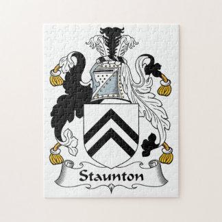 Escudo de la familia de Staunton Rompecabezas Con Fotos