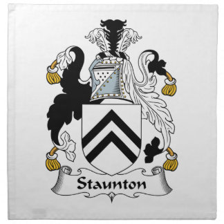 Escudo de la familia de Staunton Servilleta De Papel