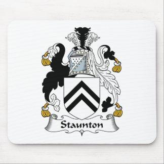 Escudo de la familia de Staunton Tapetes De Raton