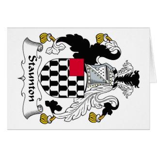 Escudo de la familia de Staunton Tarjeta De Felicitación