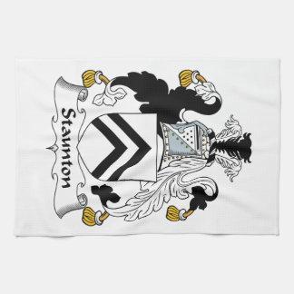 Escudo de la familia de Staunton Toallas De Cocina
