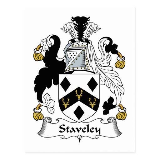 Escudo de la familia de Staveley Tarjeta Postal