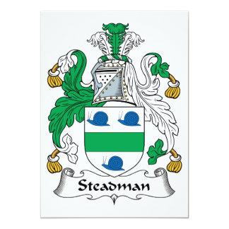 """Escudo de la familia de Steadman Invitación 5"""" X 7"""""""