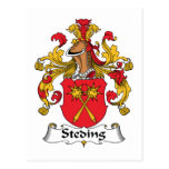 Escudo de la familia de Steding Postales