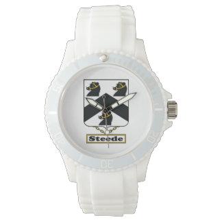 Escudo de la familia de Steede Relojes De Pulsera